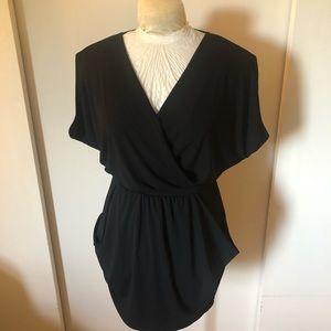 Black flirty dress